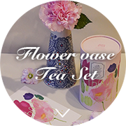 Flower vase Tea Set